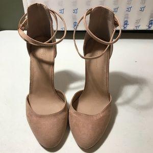 ASOS women's beige double strap heel size 6.5